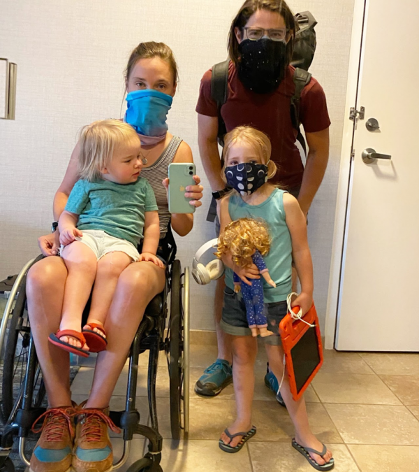 What I didn't know then: Wildfire displacement as a wheelchair using parent, by Alex Wegman